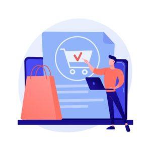 commande-ligne-achat-achat-produits-site-web-boutique-internet-clientele-feminine-tablette-ajoutant-produit-au-personnage-panier