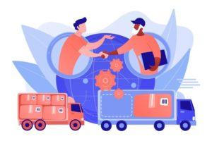 service-expedition-mondial-distribution-internationale-logistique-collaborative-partenaires-chaine-approvisionnement-concept-optimisation-couts-fret