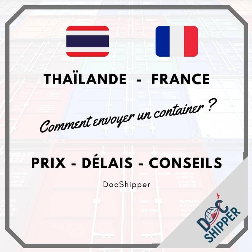 transport thailande france prix delai conseils